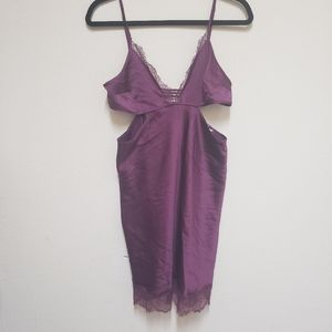Victoria's Secret- Burgundy Nighty with Cut Outs